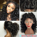 8A Glueless Full Lace Human Hair Wigs For Black Women Wave Brazilian Virgin Lace Front Human Hair Wigs With Baby Hair U Part Wig