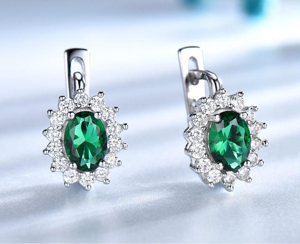 UMCHO-Emerald-925-sterling-silver-clip-earrings-for-women-EUJ074E-1-PC_02