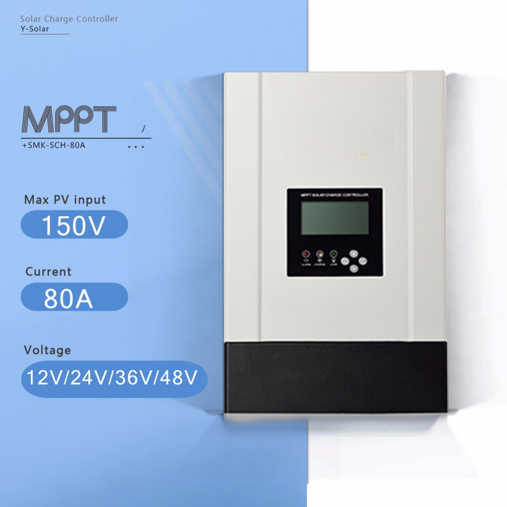 12V 24V 36V 48V Auto MPPT Solar Charge Controller 80A Solar Battery Charge Controller with Heatsink Cooling and High Eficiency free shipping 1820w 80a 24v 36v