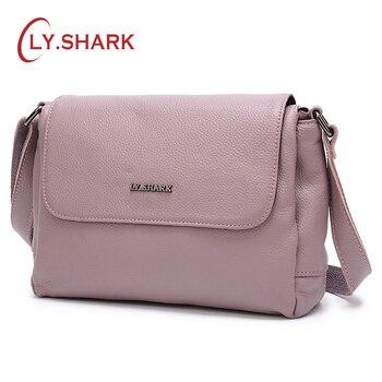 cdeac774050c SHARK женские сумки для женщин 2019 сумка женская из натуральной кожи сумки  через плечо для женщин сумки-мессенджеры