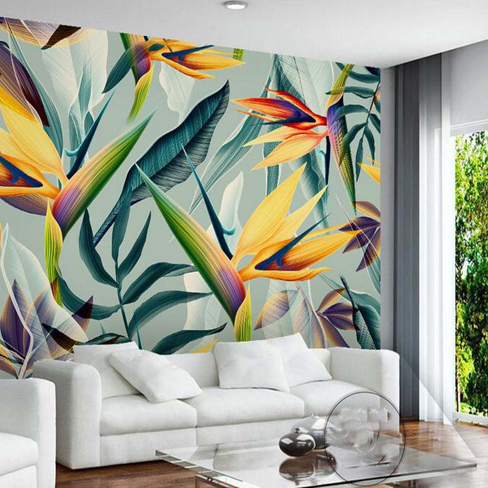 Popular floral wall murals buy cheap floral wall murals for Asian wallpaper mural