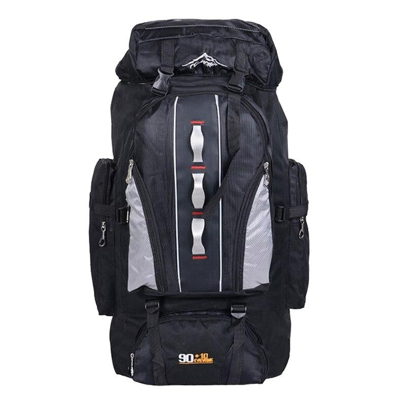 100L Große Kapazität Outdoor-Sport-Rucksack Männer und Frauen Reisetasche Wandern Camping Klettern Angeln Taschen wasserdichte Rucksäcke