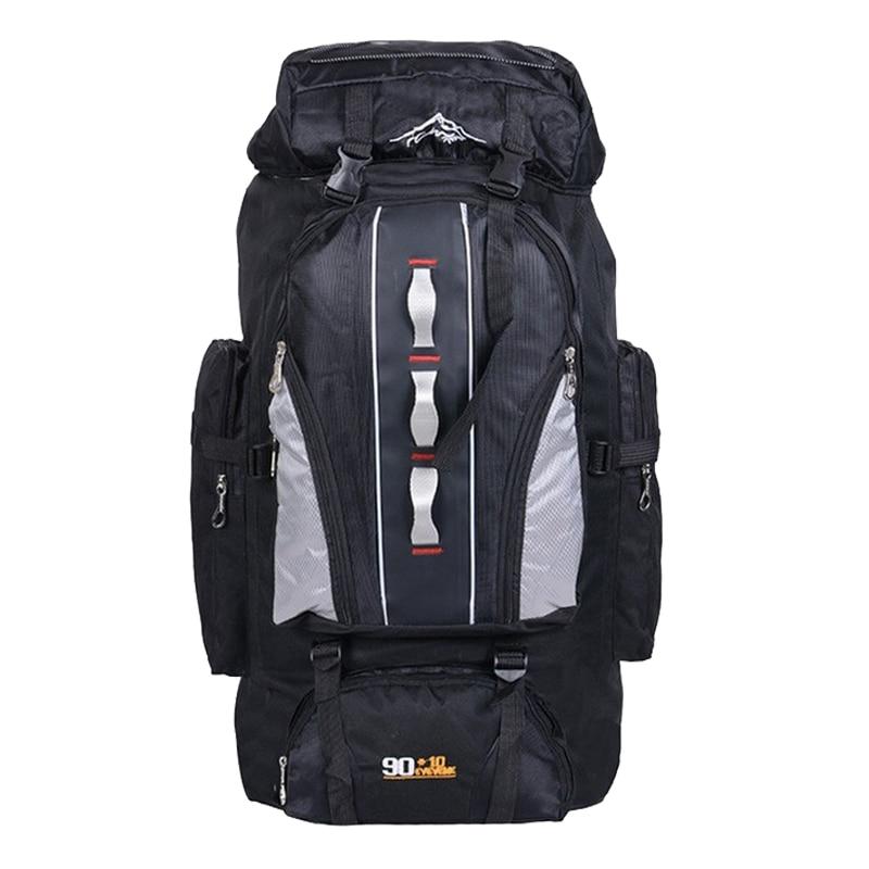 100L de gran capacidad al aire libre deportes mochila hombres y mujeres de viaje bolsa senderismo Camping escalada pesca bolsas impermeable mochilas