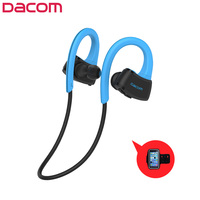 DACOM Built In MP3 Player Sports Earphones Wireless Bluetooth Stereo Headphones IPX7 Waterproof Headset With Mic