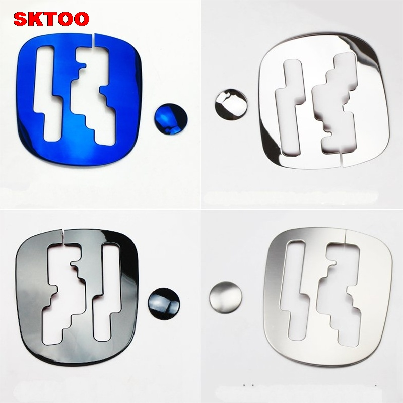 SKTOO Car styling ,ABS chrome trim Car Gear head sticker style Gear Shift decoration cov ...