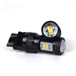 4 PCS/lot 12 V 3156 3157 LED indicateur arrière frein arrêt Super lumineux blanc 14SMD 3030 5050 moto LED lumières voiture clignotant