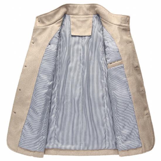 Blue Montant Veste Laine ardoisé Mince Et Dark Coton gris kaki Hiver Manteau Outwear Chaud Hommes Col 2018 Occasionnel Nouveau Automne nqXOOa