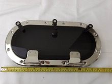 15.7*7.9 inch  400*200mm 316L Stainless Steel Oval Shape Opening Portlight Porthole Window Hatch For Marine Boat Yacht