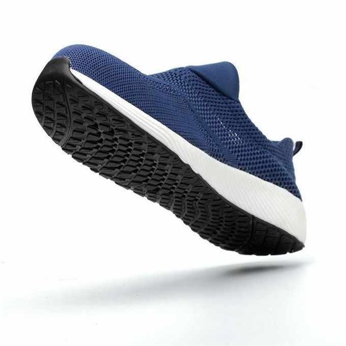 夏の男性の屋外通気性メッシュライト & 快適な鋼つま先保護作業靴男性女性パンク証拠安全靴