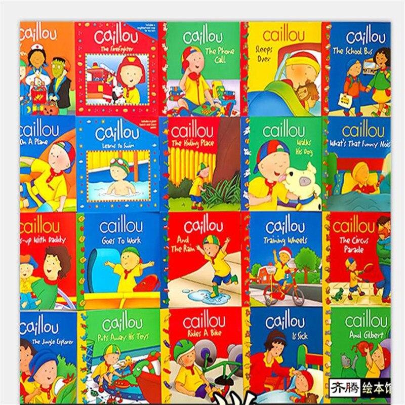 Neue 20 bücher/set Caillou Klassische Nordamerikanischen bildung eltern kind lesen bild buch Englisch geschichte buch für kinder geschenk-in Bücher aus Büro- und Schulmaterial bei  Gruppe 1