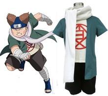 Узумаки Наруто Cos Чежи Акимичи Косплей Костюм 5 в 1 пальто + футболка + брюки + шарф + головные уборы
