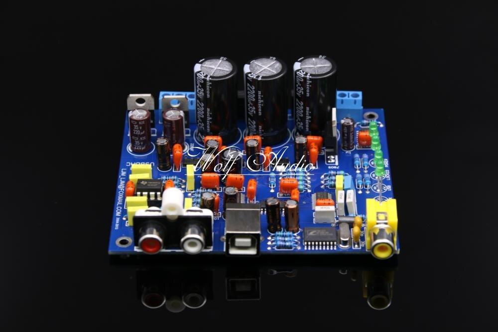 LJM Audio HiFi CS8416 CS4398 DAC Assembly Board With USB Coaxial 24BIT 192K 32K Decoder Board