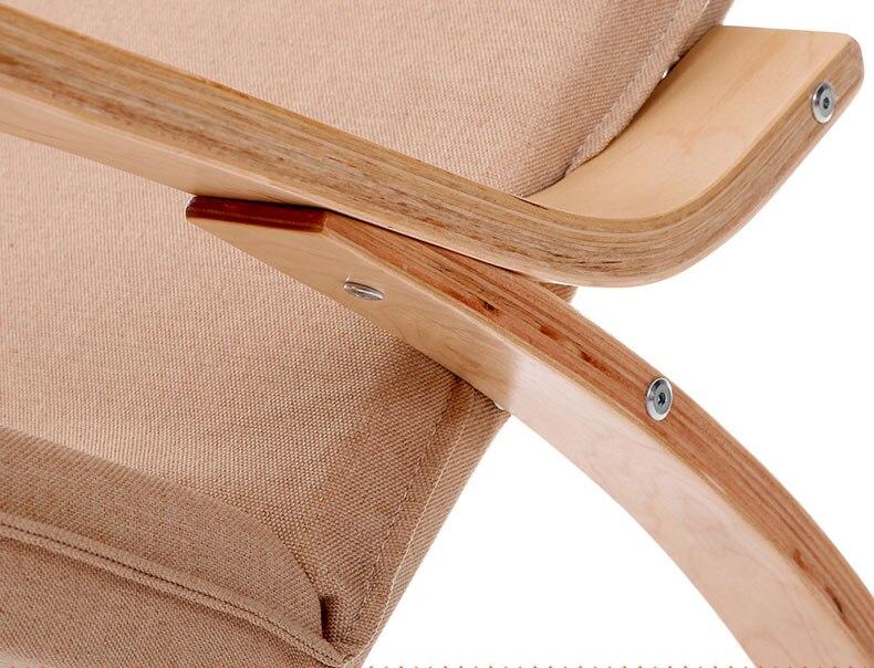 Aliexpress Bequeme Entspannen Holz Schaukelstuhl Mit Fusssttze Design Wohnzimmer Mbel Moderne Liege Freizeit Stuhl Stoff Kissen Von Verlsslichen