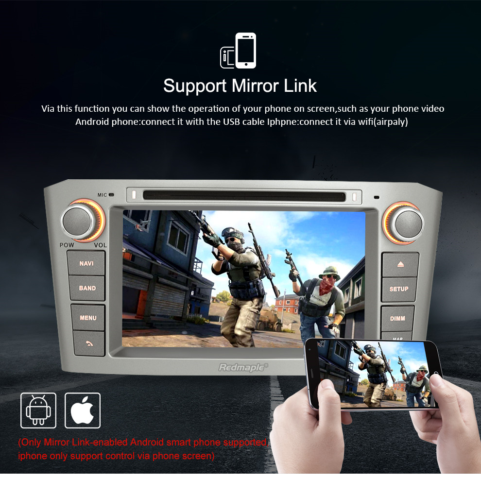 Image 3 - 4G RAM 7'' Android 9.0 Car DVD GPS Navigation Video Player For Toyota Avensis/T25 2003 2008 2 Din Car PC Head Stereo Multimedia-in Car Multimedia Player from Automobiles & Motorcycles