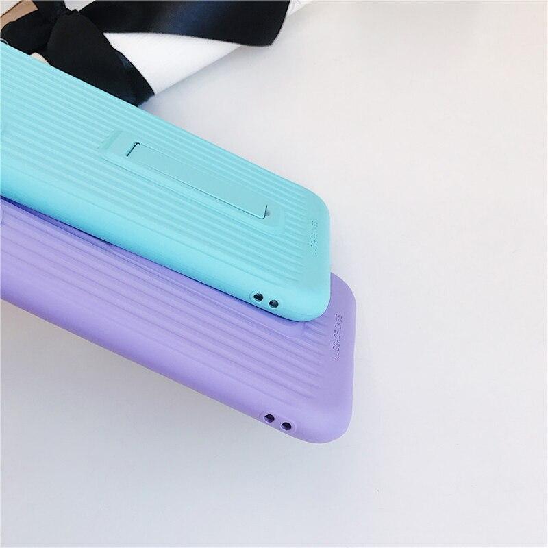 Image 4 - 2019 чехол для сотового телефона TPU для iPhone X XS Max XR 6 6S 7 8 Plus чехол ультра тонкий держатель чистый цвет для Apple Phone подарок-in Полуобернутый чехлы from Мобильные телефоны и телекоммуникации