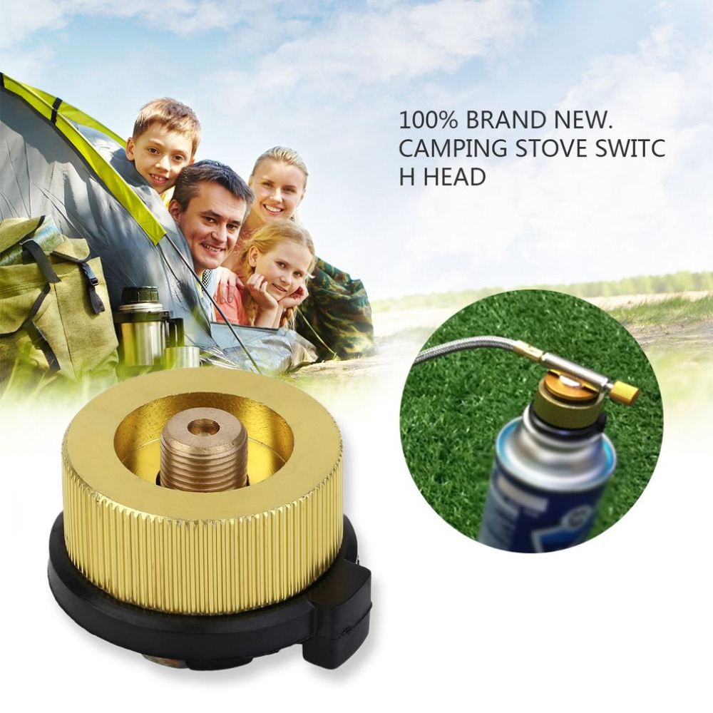 Outdoor Camping Burner Conversion Head Stove Connector Gas Bottle Adaptor/_TI