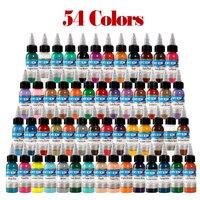 54 Pcs 30ml Professional Tattoo Ink 54 Colors Set 1oz 30ml/Bottle Tattoo Pigment Kit Fashion Makeup cosmetics Tools Ink