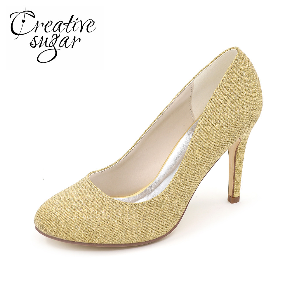 Creativesugar Sparkle glitter lady party fashion show shoes closed toe slip on pumps bridal wedding party prom gold silver blue creativesugar handmade teal peacock blue long tulle bridal shoes soft gauze leg strap forest fairy tale wedding party lady pumps