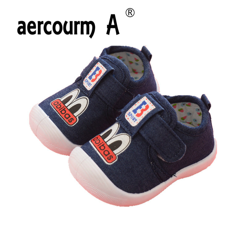 Aercourm A 2018 Spring Toddler Shoes Boys Shoes Soft Baby Shoes New Baby First Walkers Cartoon Pink Blue Sneakers 0-1-2 Years