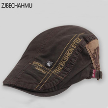 Casual Vintage Solid Letter Cotton Beret Visors Hats Caps For Men and Women Sun hat Planas Flat Adjustable Berets New Brand