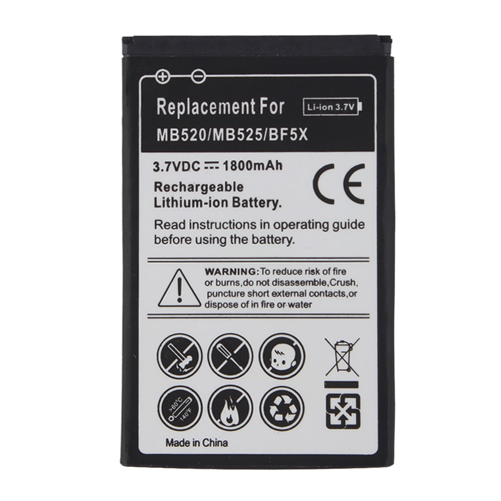 Phone Replacement 1800mah BF5X Battery For Motorola MB525 Defy MB520 Bravo Photon 4G MB855