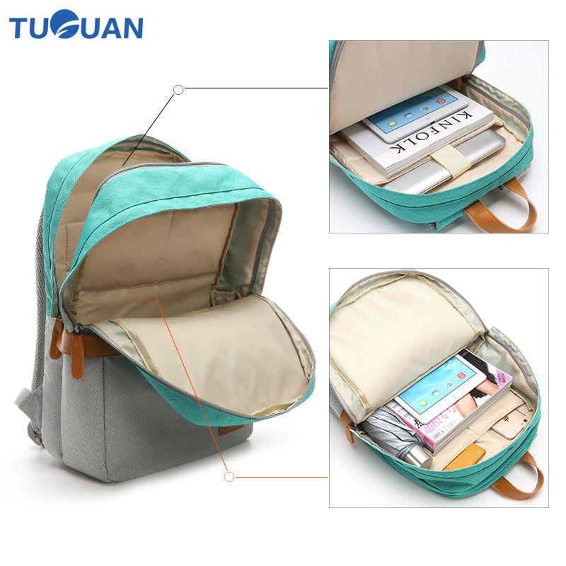Купить с кэшбэком Tuguan Unisex Laptop Backpacks Notebook Backpack Korean Style Women Men School College Student Bags Casual Travel Shoulder Bags