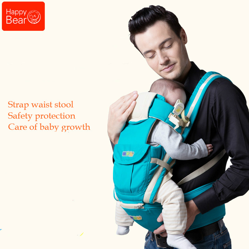 Happy Bear Multifunctional Baby Sling Lumbar Bended Baby Lumbar Stool Horizontal Hold Four Seasons Breathable and Lightweight budou four seasons multifunctional baby suspenders newborn baby stool for children breathable suspenders belt
