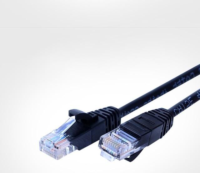 1M Black Color 350MHz Snagless Cat5e UTP Ethernet Cablecategory 5e Patch Cord Molded 8P8C RJ45 Network Lan Cable