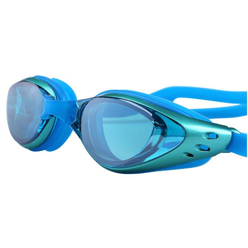Occhiali da nuoto impermeabili regolabili con protezione antiappannamento UV Occhiali da sole professionali colorati Occhiali da nuoto subacquei Occhiali da nuoto