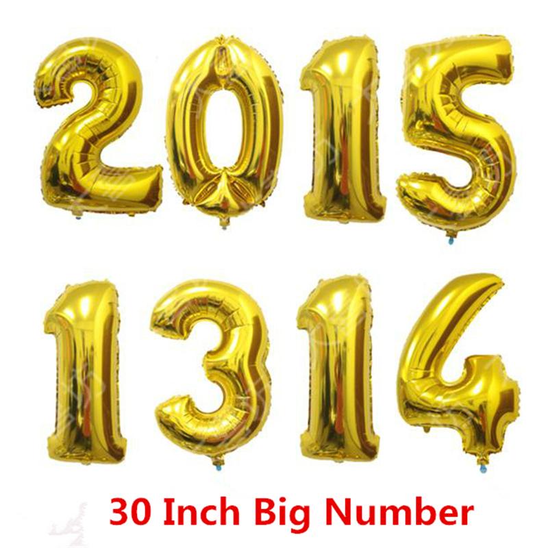 1pcs 30 inch charm silver gold alphabet helium foil With 30 inch letter balloons
