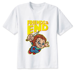 Chucky T Shirt mężczyźni wysokiej jakości fajne Streetwear mężczyźni T-shirt na co dzień Horror Tshirt Chucky drukuj O-Neck mężczyzna odzież 6
