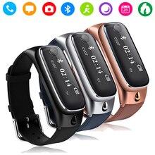Gzdl M6 Bluetooth Смарт Браслет часы диапазон гарнитуры Sleep Monitor фитнес трекер анти-потерянный для IOS Android WT8086