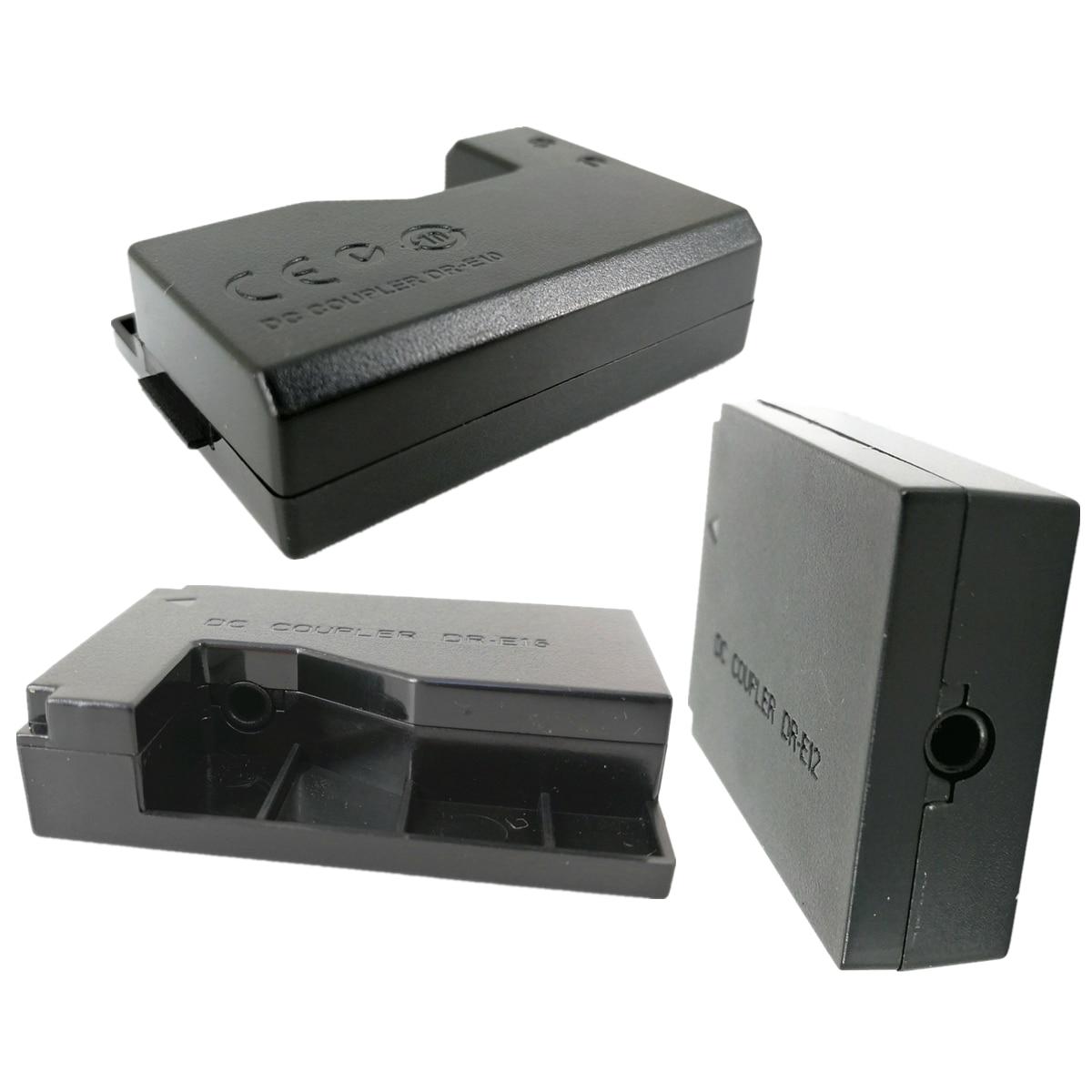 Dummy Battery DC Coupler Power Supply Adapter Replace DR-E10 DR-E12 DR-E15 For Canon LP-E10 LP-E12 ACK-E15 ACK-E12 ACK-E10