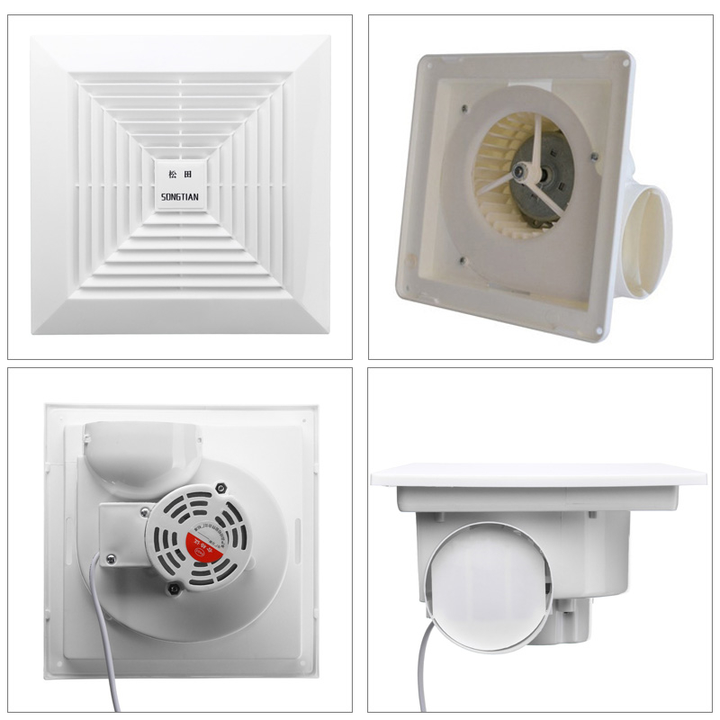 Details about Ceiling Exhaust Fan Wall Mount Ventilation Blower Low Noise  For Bathroom Kitchen