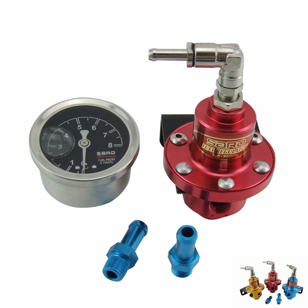 Racing Sard Competition Adjustable Fuel Pressure Regulator & Liquid Gauge for Honda Acura for all car.