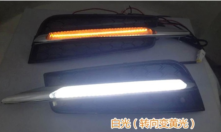 New!!! 2009-13 Cruze LED DRL Daytime Running Light 62 chips super bright with yellow turn light function top quality top quality led drl daytime running light for chevrolet chevy cruze 2009 2013 guiding light design super bright