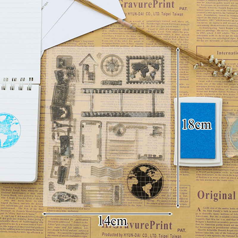 New Clear Stamp For Card MakingScrapbooking Diy Postcard Global - Map making for kids
