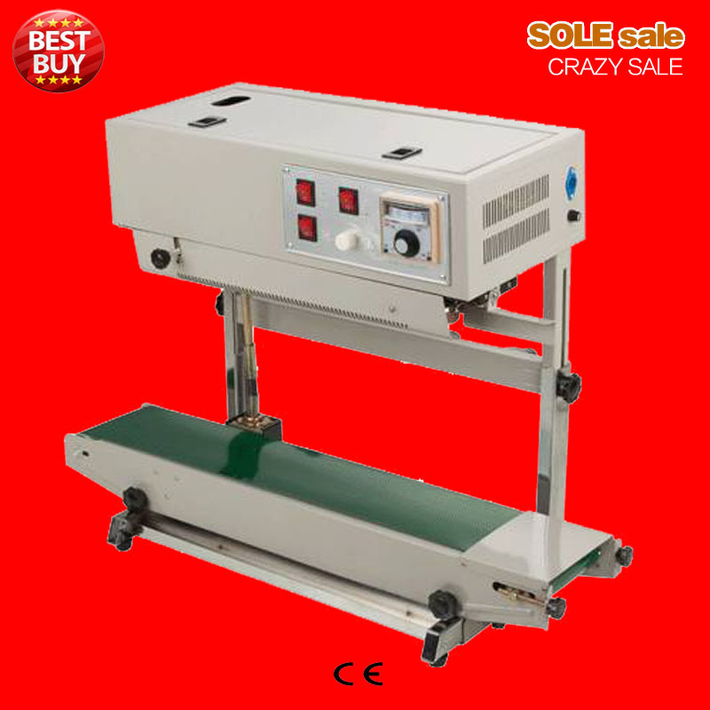 Automatic vertical continuous sealing machine FR770 FR900 220V plastic film sealer aluminum foil bags sealing machine food pack automatic continuous plastic film sealing machine for food cosmetic potato chips dbf 1000 110v 60hz