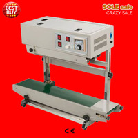 Vertical Continous Plastic Aluminum Bag Sealing Machine Package Sealer With Expiration Date Coding Device Ink Hot