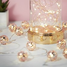 Wedding light lamp Christmas Festival Nordic wind rose gold leaf lamp string(China)