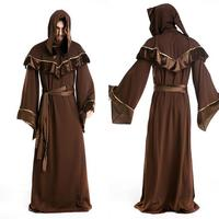 Sexy Costumes Men Deguisement Halloween 50s Fancy Dress Sexy European Religious Priests Male Role Playing Clothes