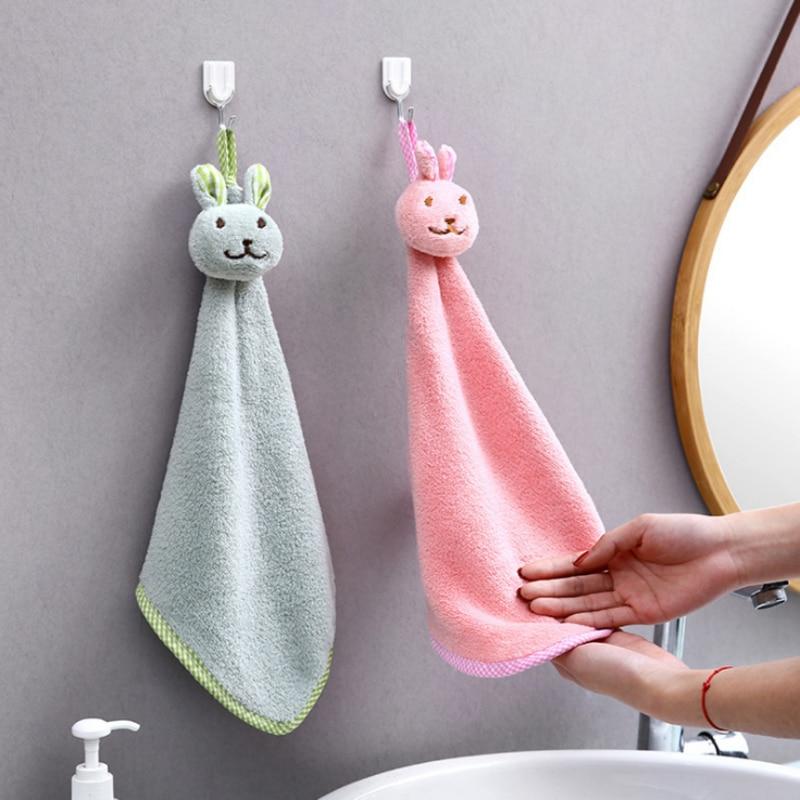 1 Pcs Kaninchen Kopf Korallen Fleece Handtuch Saugfähigen Haar Öl Wäsche Tuch Küche Reinigung Baby Bad Weichen Kaninchen Wischen Kinder