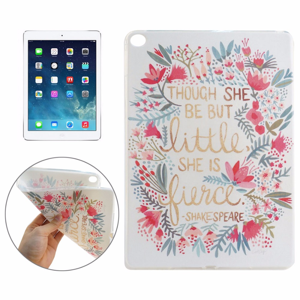 2 Pcs Brand New Pattern TPU Protective Case for iPad Air 2 High Quality Dropshipping (The price is for 2 pcs)