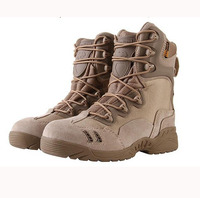 Esdy Spring Autumn Desert Tactical Military Men Boots Army Combat Boots Genuine Leather Outdoor Trainer Climbing