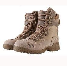 NOUS Armée Tactique Militaire Bottes Hommes Désert Combat Bottines Printemps Automne Véritable Chaussures De Sécurité En Cuir Hommes de Chaussures