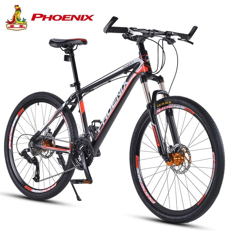 Phoenix Cycling Bike 26 27.5 In  Off-road  Mountain Bike 30 Speed Racing Men Women Students Race Bicycle MTB Disc Brake Bicycle