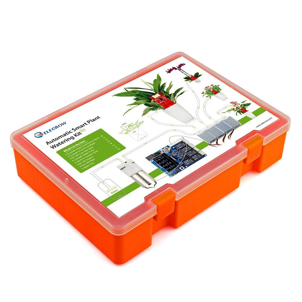 Купить с кэшбэком Elecrow Automatic Smart Plant Watering Kit for Arduino Garden DIY Program Plant Watering Device Capacitive Soil Moisture Sensor