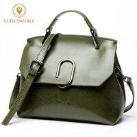 LUDESNOBLE Fashion Brand Women Bag Genuine Leather Handbag Ladies Shoulder Bag Messenger Bags Female Solid Vintage