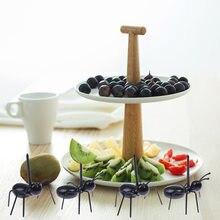 Fourchette à fruits en forme de fourmi, 12 pièces, Snack, gâteau, Dessert, vaisselle, bâton de cuisine à domicile, cueilleur de dîner de fête