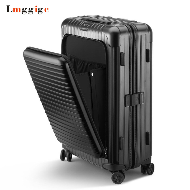 PC Rolling Luggage,Travel Suitcase Bag,Multiwheel Trolley Case with Laptop bag,Spinner Nniversal wheel Carry-On,Hardside box